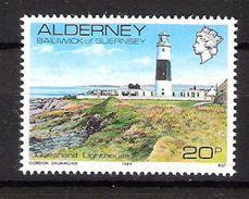 Alderney 1989 Views Of Alderney, Quesnard Lighthouse, Mi 42, MNH(**) - Alderney