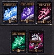 RUSIA 1976 - INTERCOSMOS Y COOPERACION ESPACIAL - YVERT Nº 4298/4302** - Space