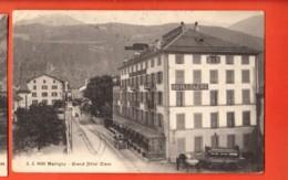VAE-04 Martigny Ville, Grand Hotel Clerc. Attelage, Callèche., Circulé 1922  Jullien 9056 - VS Wallis