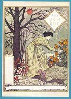 Eugène GRASSET - La Belle Jardinière - Novembre - Malerei & Gemälde