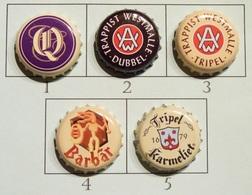 Lot N° 34-2 : 5 Capsules De Bière (parfait état - Pas De Trace De Décapsuleur) Beer - Cerveza - Birra - Bière