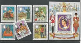 COMORES Scott 315A-315F 315G Yvert216-219 PA141-PA142 BF17 (6+bloc) ** Cote 14,00 $ 1978 - Comores (1975-...)