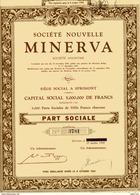MINERVA - Société Nouvelle - Automobile