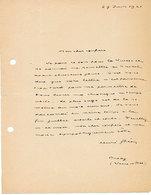 Henri GHEON Lettre Autographe Signée De, à Un Confrère Qu'il Ne Cite Pas. Datée Du 29 Juin 1921. - Autógrafos