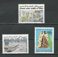 COMORES Scott C107, 498-499 Yvert PA163, 319-320 (3) ** Cote 9,50 $ 1979-80 - Comores (1975-...)