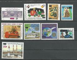 COMORES Scott 514, 531-534, C118-C121 Yvert 338, 353-356, PA189-PA192 (9) ** Cote 11,00 $ 1981 SURCHARGES - Comores (1975-...)