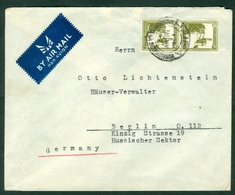 Palestine 1947 Letter Cover Haifa Berlin Russian Sector Germany Air Mail Otto Lichtenstein - Palestina