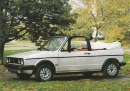 VW Golf Cabrio,Karmann Werbekarte, Gelaufen - Turismo
