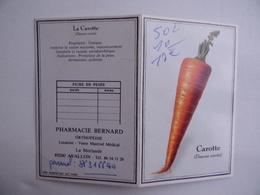 CALENDRIER De POCHE 1994 Carotte Publicité PHARMACIE BERNARD La Morlande à AVALLON 89 - Calendarios