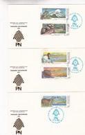 PARQUES NACIONALES III. LOTE X 3-FDC 1990 LA PLATA, L'ARGENTINE-CARD - BLEUP - Milieubescherming & Klimaat