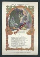 Typogravure. Fable De La Fontaine édité Par La Phosphatine Falière. LE SINGE ET LE CHAT.  Art-Nouveau. 2 Scans - Vieux Papiers