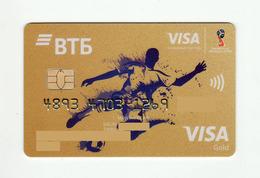 VTB Bank RUSSIA World Football Cup (FIFA) RUSSIA VISA Gold EXPIRED - Tarjetas De Crédito (caducidad Min 10 Años)
