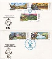 PARQUES NACIONALES II. LOTE X 2-FDC 1989 LA PLATA, L'ARGENTINE-CARD - BLEUP - Milieubescherming & Klimaat