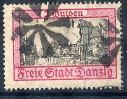 DANZIG 1925 2 G.  Krantor With Cork Cancellation Of Danzig-Langfuhr.  Michel 213 - Danzig