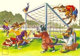 Katzen Beim Fussballspiel        Ca. 2000 - Chats