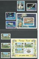 COMORES Scott 517-520 521, 522-524 524a Yvert 341-344 BF30, 345-347 BF31 (7+2blocs) O Cote 8,00 $ 1981 - Comores (1975-...)