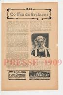 8 Scans Coiffes Bretagne Quimper Chateaulun Plougastel Dol Daoulas Sein Cancale Pleurtuit Plérin Saint-Suliac 223CH14 - Vieux Papiers