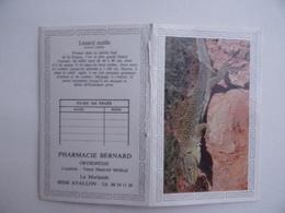 CALENDRIER De POCHE 1989 Lézard Ocelle Lisse Publicité PHARMACIE BERNARD La Morlande à AVALLON 89 - Calendars