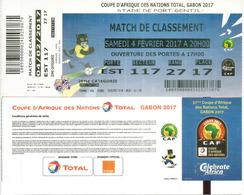 Ticket Coupe D'Afrique Des Nations Au Gabon, Stade De Port-Gentil. 4 Fevrier 2017, Etat Neuf - Football