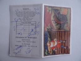 CALENDRIER De POCHE 1988 Scorpion Lisse Publicité PHARMACIE BERNARD La Morlande à AVALLON 89 - Calendars