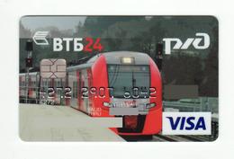 VTB RUSSIA Train VISA Expired - Cartes De Crédit (expiration Min. 10 Ans)