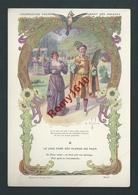 Typogravure Fable De La Fontaine édité Par La Phosphatine Falière. LE GEAI PARE DES PLUMES DU PAON  Art-Nouveau. 2 Scans - Vieux Papiers