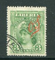 LIBERIA- Timbres De Service Y&T N°39- Oblitéré - Liberia