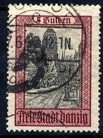 DANZIG 1924 5 G. Marienkirche With Cork Cancellation Of Zoppot.  Michel 210 - Dantzig