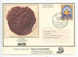 Liechtenstein 1992 70rp Castle Postal Card LIBA 92 Philatelic Exhibition - Stamped Stationery