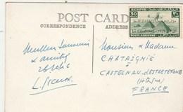 Egypte 26/10/1946 Sur Carte Postale Le Caire Pour Castelnau D' Estrefonds Haute Garonne France - Egypt
