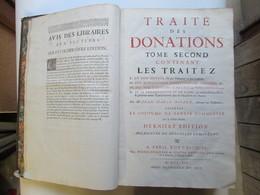 Traité Des Donations (tome 2 ) - Droit