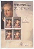 Liechtenstein 2005 FDC Card Scott 1314 Venus At A Mirror, Peter Paul Rubens - FDC