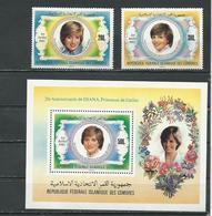COMORES Scott 546-547 548 Yvert 368-369 BF34 (3+bloc) ** Cote 11,25 $ 1982 - Comores (1975-...)