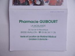 CALENDRIER De POCHE 2005 Publicité PHARMACIE GUIBOURT La Morlande à AVALLON 89 - Calendriers