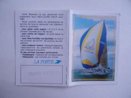 CALENDRIER De POCHE 1991 Publicité LA POSTE Voilier Régate - Calendriers