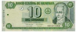 NICARAGUA 10 CORDOBAS 2002 Pick 191 Unc - Nicaragua