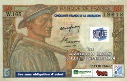 15-2019   BILLET DE 5 FRANCS  PUBLICITAIRE DE 1994  VILLE DE CHAUMONT  ET GROUPAMA - Specimen
