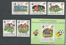 COMORES Scott 555-559 560 Yvert 373-377 BF36 (5+bloc) ** Cote 10,00 $ 1982 SURCHARGES - Comores (1975-...)