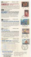 Marshall Islands & Micronesia 1996-97 5 Different Advertisement Postal Cards - Marshall Islands