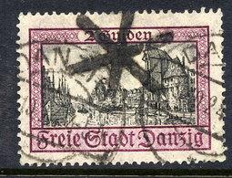 DANZIG 1924 2 G.  Krantor With Cork Cancellation Of Danzig 1.  Michel 208 - Danzig