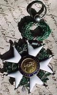 1870 ETOILE Ou CROIX DE CHEVALIER DE LA LEGION D'HONNEUR  , Médaille, EMAUX , OR Et ARGENT , III ° République - Médailles & Décorations