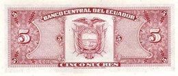 ECUADOR P. 113c 5 S 1980 UNC - Equateur