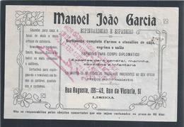 Fatura De Espingardeiro E Espadeiro De 1921.Invoice Of Racket And Espadrille. Espadas Para General.Stamp Recibo.2sc.Rare - Portugal