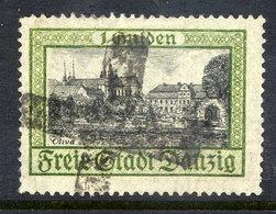 DANZIG 1924 1 G.  Oliva With Cork Cancellation Of Danzig 5  Michel 207 - Danzig