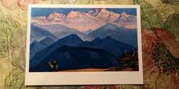 Nicholas Roerich - REMEMBER!. 1945.  HIMALAYA - Old USSR PC 1974 - Tibet