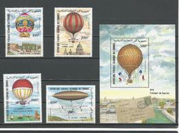 COMORES Scott C122-C125 C126 Yvert PA193-PA196 BF37 (4+bloc) ** Cote 16,25 $ 1983 - Comores (1975-...)
