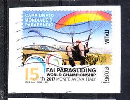 Italia   -   2017. Mondiali Di Parapendio. Paragliding World Championships. Self Adhesive - Paracadutismo