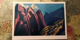 "Nicholas Roerich - ""Teacher Shadow""   HIMALAYA - Old USSR PC 1974 - Tibet"