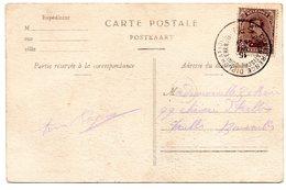 N° 136 Sur CV Oblitération CONFERENCE DIPLOMATIQUE SPA (15-VII-1920) - Altri