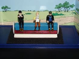 Figurines Tintin, Dupont & Dupont ( Métal ) Dans Boîte 14.5cm/6.5cm/6cm. Hergé Moulinsart - Tintin